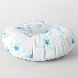Renaissance Magic Gnome Blue Flowers Floor Pillow