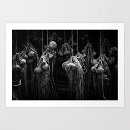Strings and Onions Art Print