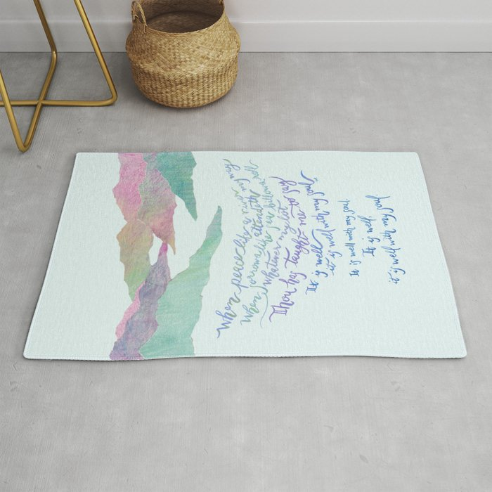 It Is Well With My Soul-Hymn Rug by joyfultaylor