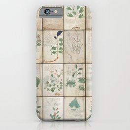 The Voynich Manuscript Quire 1 - Natural iPhone Case