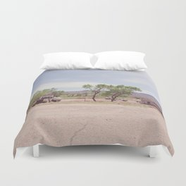Truck and Helicopters Duvet Cover