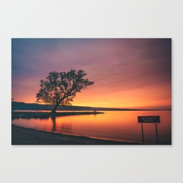 Seneca Lake - No Swimming Allowed Canvas Print