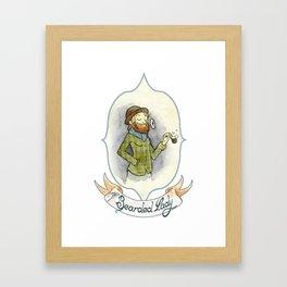 The Bearded Woman Framed Art Print