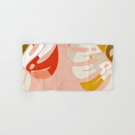 shapes leave minimal abstract art Hand & Bath Towel