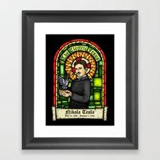 Tesla: The Electric Jesus Framed Art Print