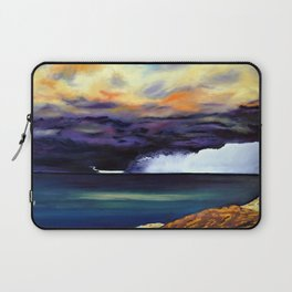 the storm has past Laptop Sleeve
