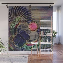 Egyptian Scarab Beetle Abstract on canvas Wall Mural