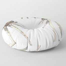 Scissorhands (Sepia) Floor Pillow