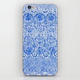 sun floral paisley in ocean blue iPhone Skin