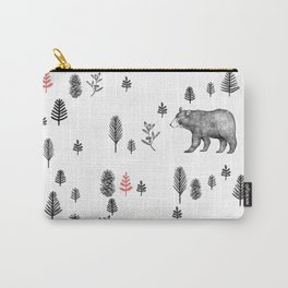In the forest pattern - Bears and trees Carry-All Pouch