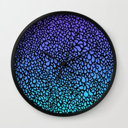 Drops - purple turquoise ombre tones Wall Clock