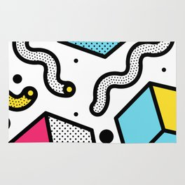 Memphis Pop-art Pattern II Rug