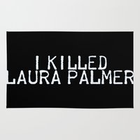 laura palmer Area & Throw Rugs featuring I Killed Laura Palmer by Laura E.