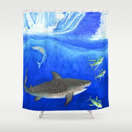Devil Down Below Shower Curtain