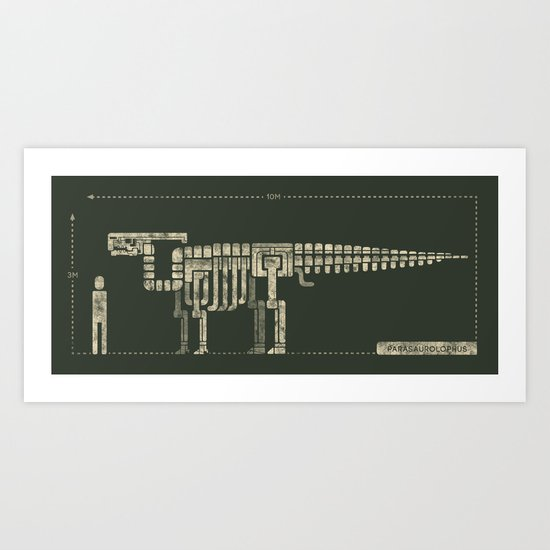 parasaurolophus Art Print