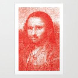 Mona Van gogh Art Print