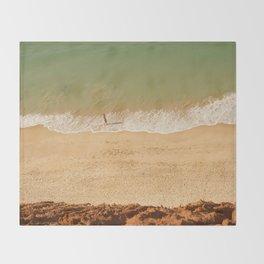 Beach Algarve Portugal Throw Blanket