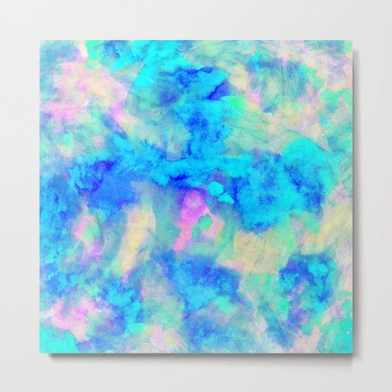 Electrify Ice Blue Metal Print