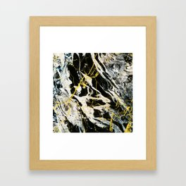 Gold And Marble Pattern Framed Art Print