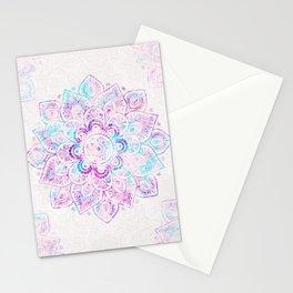 Winter Fiery Mandala Stationery Cards