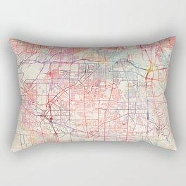 Parma map Ohio painting Rectangular Pillow