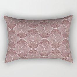 Brown Abstract Flower Petals Rectangular Pillow