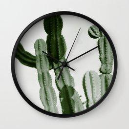 Vintage Cactus Print I Wall Clock