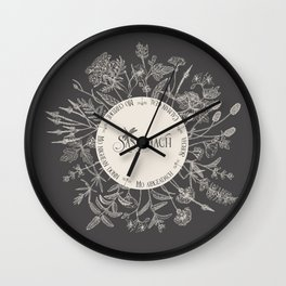 Dear Sassenach in Grey Wall Clock