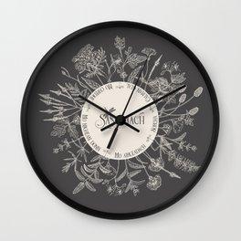 Dear Sassenach in Grey Wall Clock