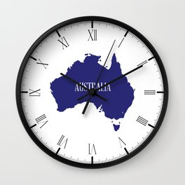 Australia Map Silhouette Wall Clock