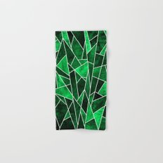 Shattered Emerald Hand & Bath Towel