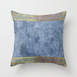 Blue Egypt Throw Pillow