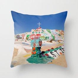 The colorful mountain Throw Pillow