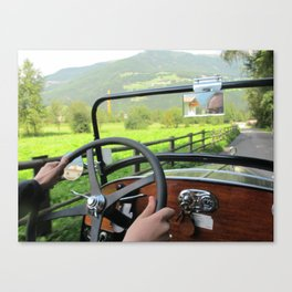 Driving around Italy Canvas Print