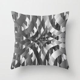 Silver metal background chrome texture Throw Pillow