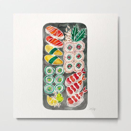 Sushi Collection – Black Platter Metal Print