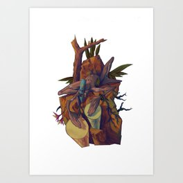 One with the sound Art Print