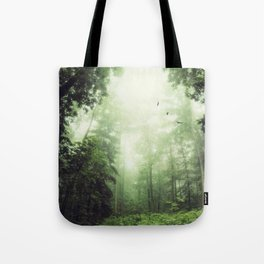 German Jungle - Forest in Morning Mist Tote Bag