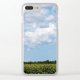 Field of Sunflowers Vertical Clear iPhone Case