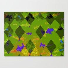 Argyle Frenzy in Zircon Canvas Print
