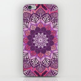 Boho Mandala in Deep Purple and Pink iPhone Skin