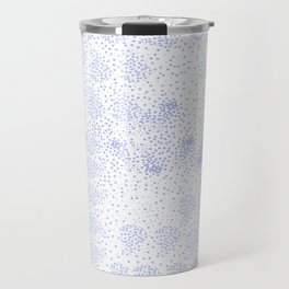 Blue circle on white Travel Mug