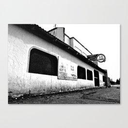 Empty pawn shop Canvas Print