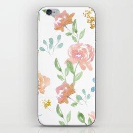 Mustard Floral Pattern iPhone Skin