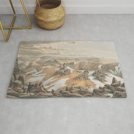 North east view from the top of Mt Kosciusko by Eu von Guerard Date 1866  Romanticism  Landscape Rug