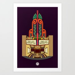 Crest Theater Art Print