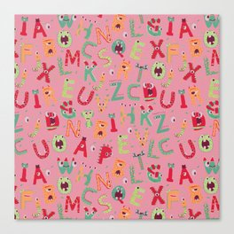 Whacky Monsters Canvas Print