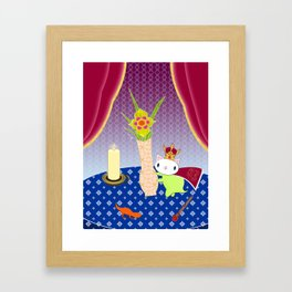 King of Wands on the Table Again Framed Art Print