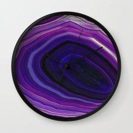Swirled Purple Geode Wall Clock