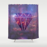 diamond Shower Curtains featuring Diamond by eARTh
